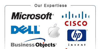 Microsoft, Cisco, Dell, Apple, HP, BusinessObjects